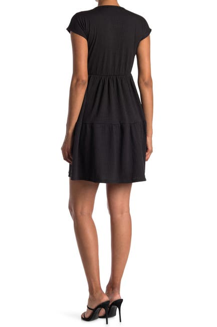 Image of Velvet Torch Ribbed Textured Flare Dress