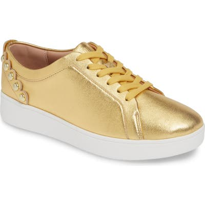 Fitflop Rally Studded Sneaker, Metallic (Nordstrom Exclusive)