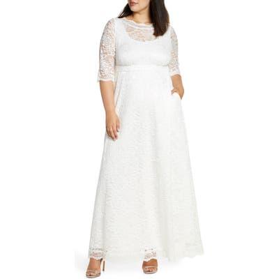 Plus Size Kiyonna Sweet Serenity Gown, Ivory