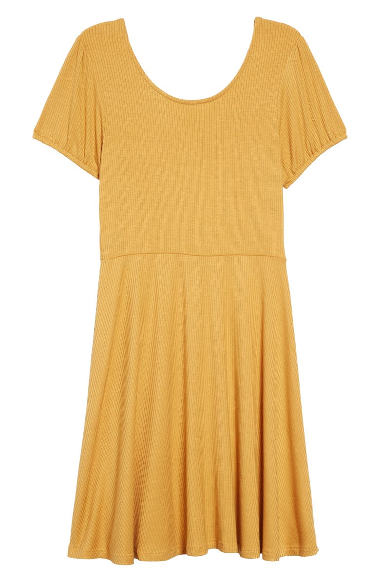 TEN SIXTY SHERMAN Scoop Neck Dress, Main, color, MUSTARD