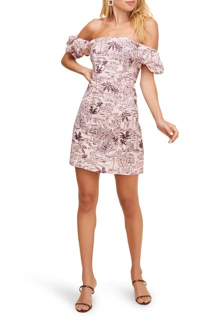 Astr RAINA OFF THE SHOULDER MINIDRESS