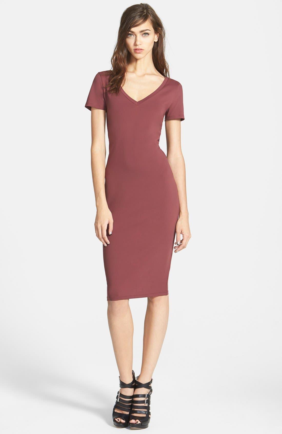 ,                             V-Neck Body-Con Dress,                             Main thumbnail 26, color,                             603