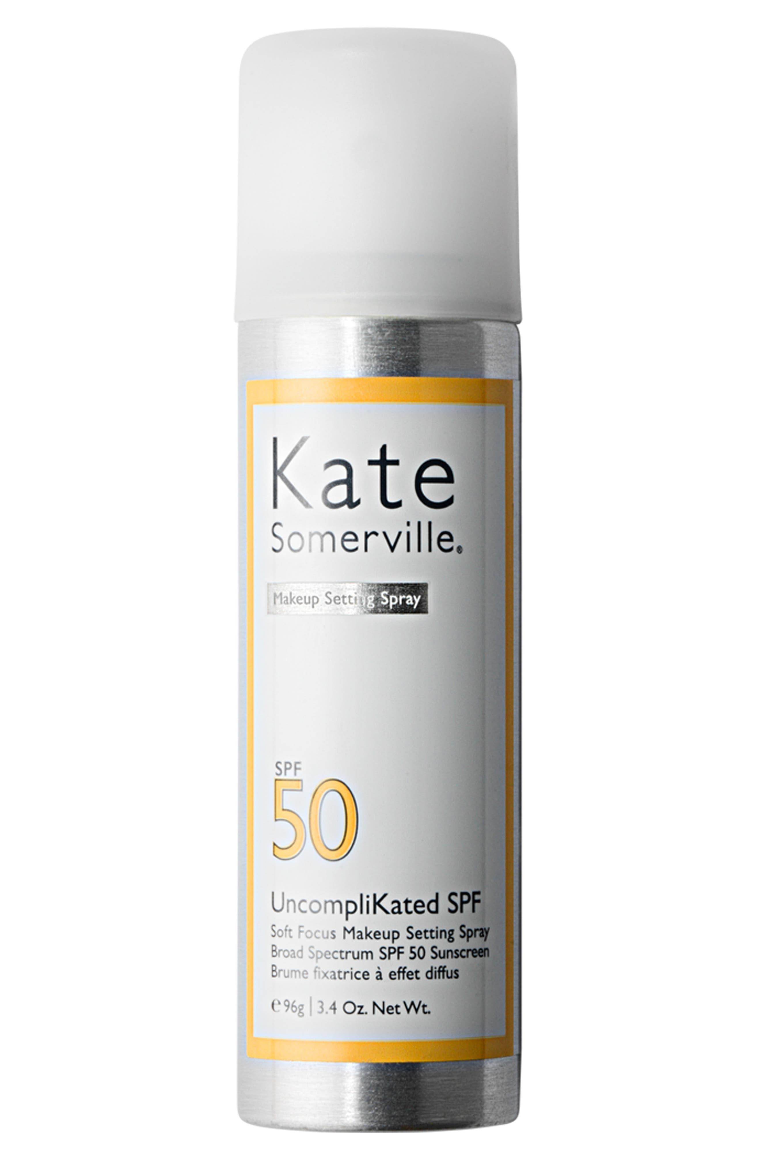 ,                             UncompliKated SPF Makeup Setting Spray SPF 50,                             Main thumbnail 1, color,                             NO COLOR