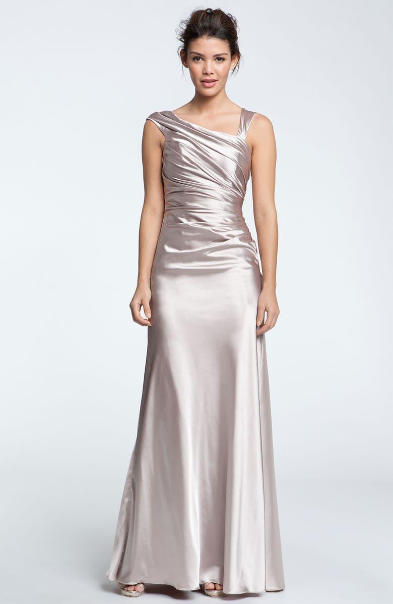 DALIA MACPHEE Asymmetrical Satin Gown, Main, color, 250
