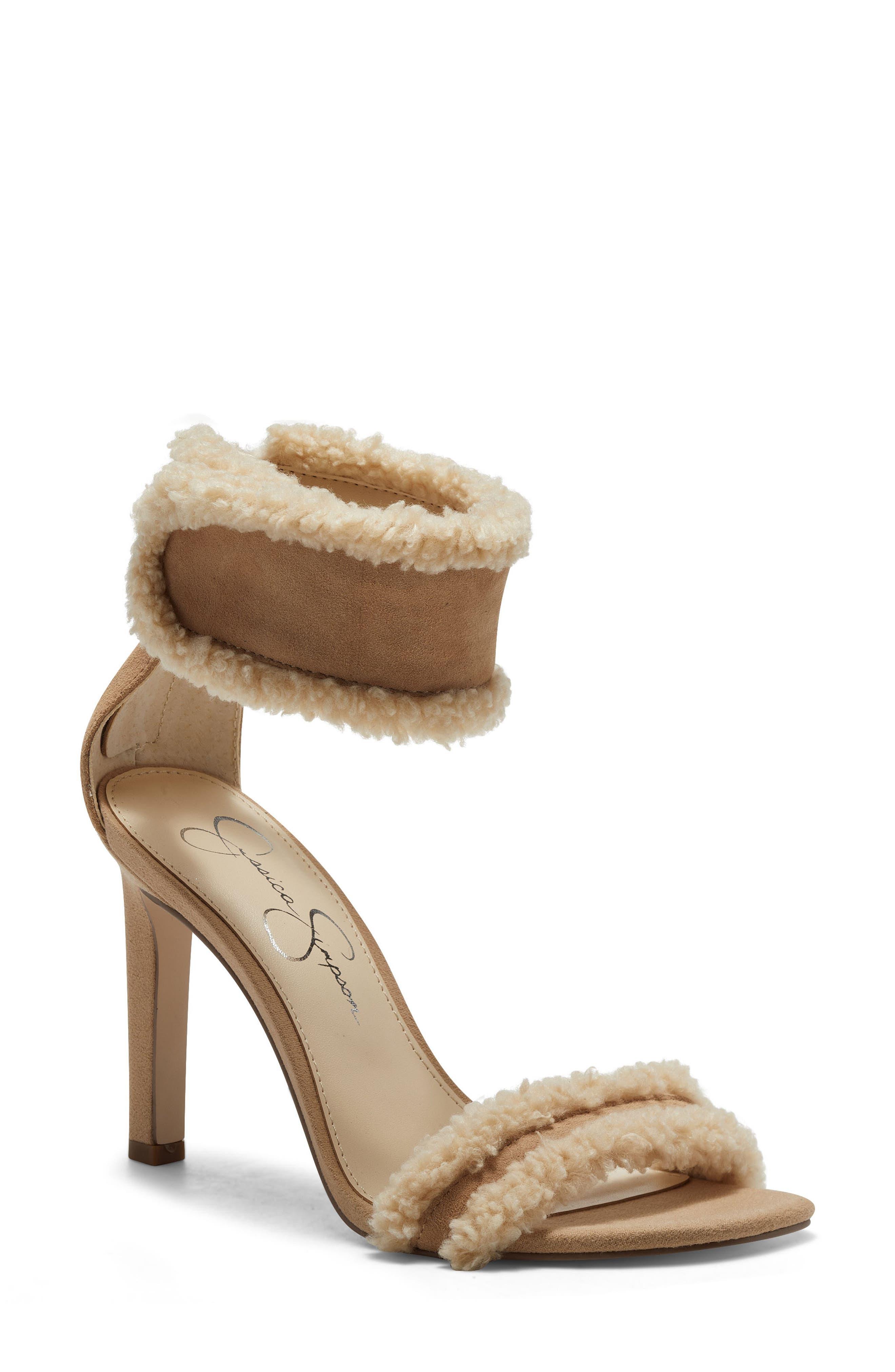 Cylia Faux Shearling Cuff Sandal