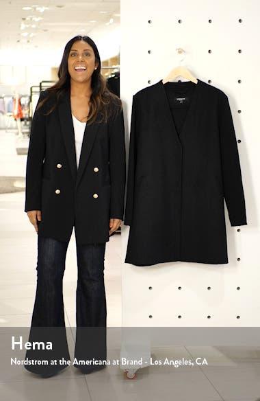 Knit Sleeve Wool Blend Coat, sales video thumbnail