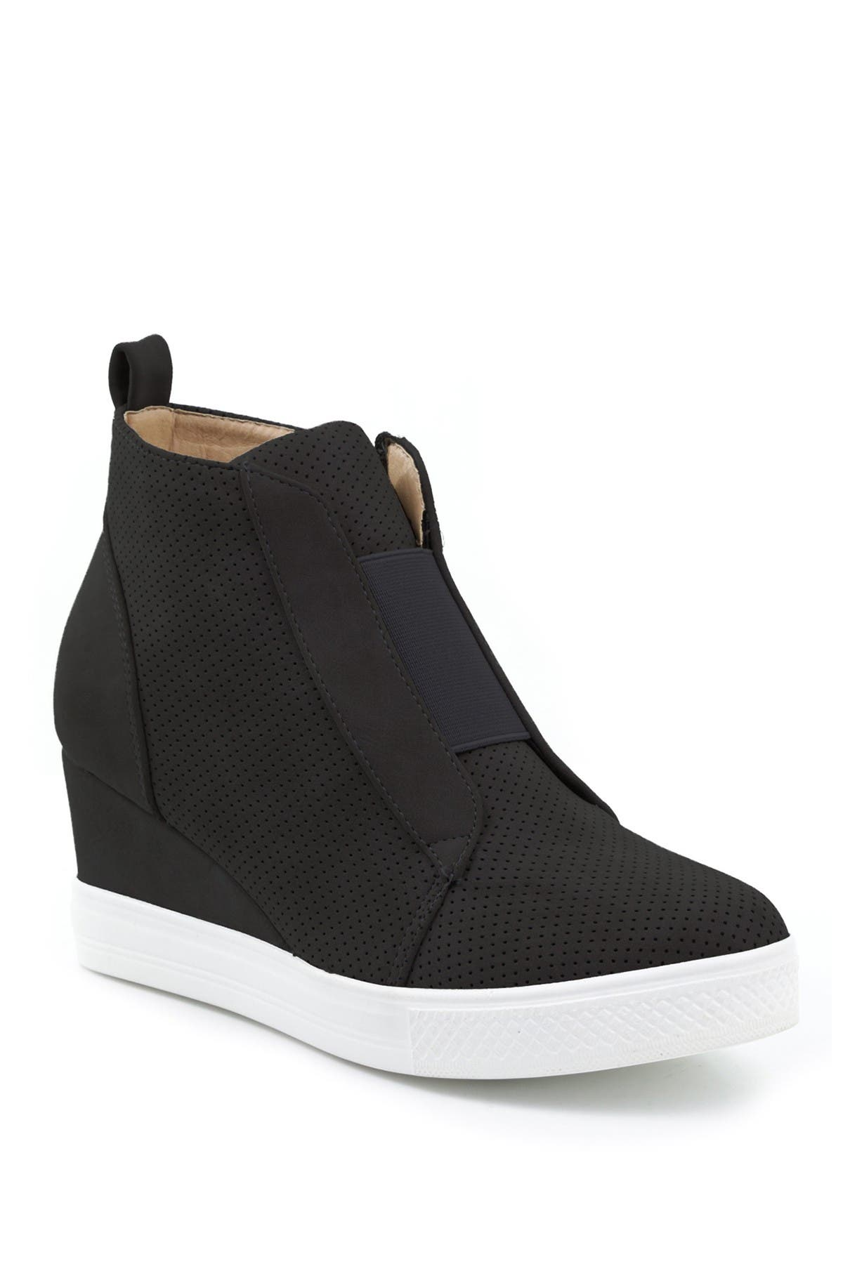 Image of Catherine Malandrino Sabra Perforated Wedge Sneaker