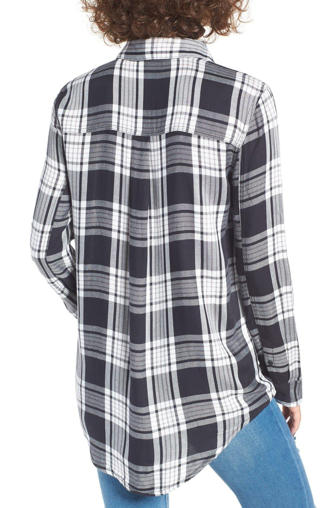 ,                             Plaid Tunic Shirt,                             Alternate thumbnail 2, color,                             001