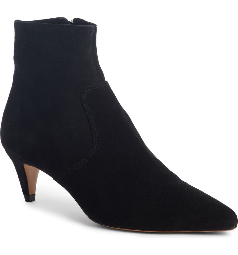 ISABEL MARANT Derst Cone Heel Bootie, Main, color, BLACK