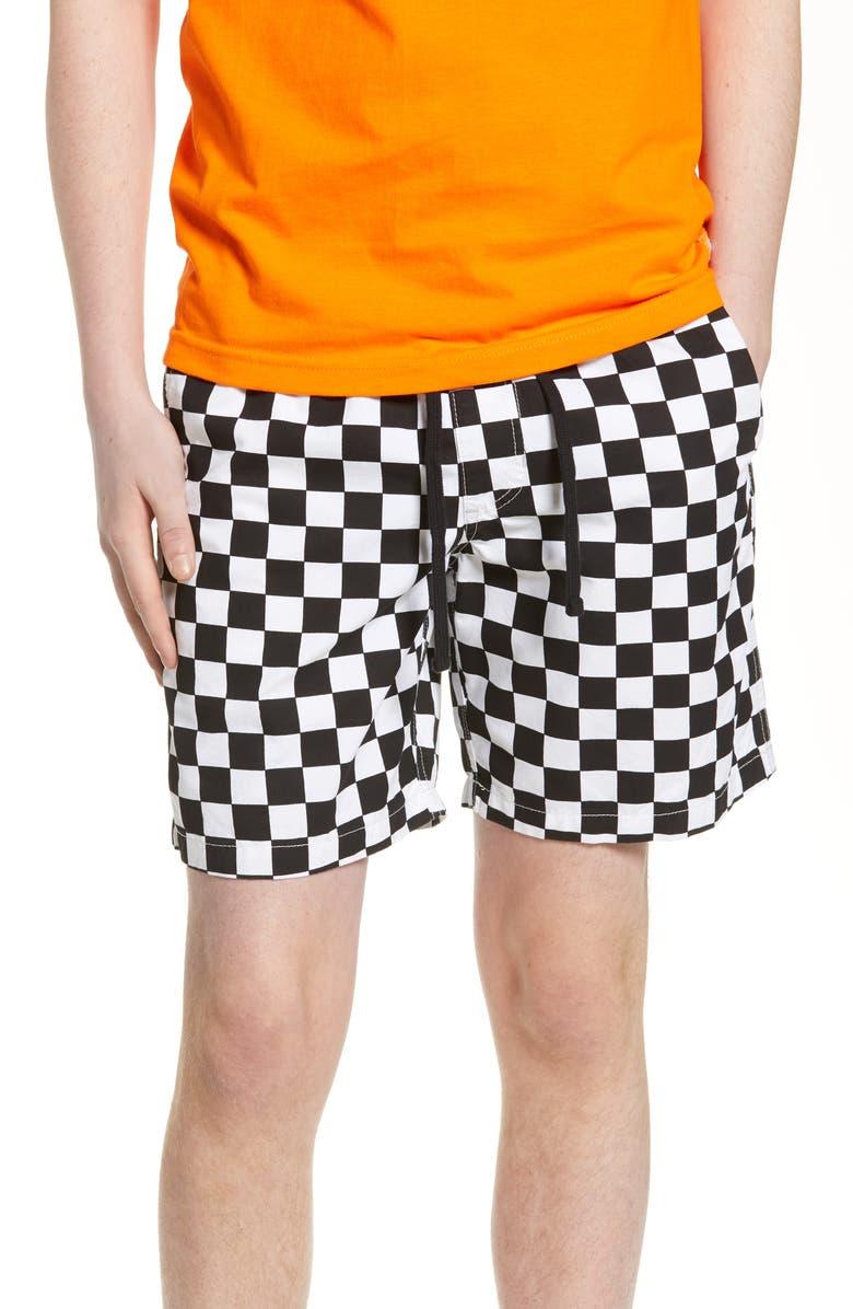 VANS Range Twill Shorts, Main, color, CHECKERBOARD