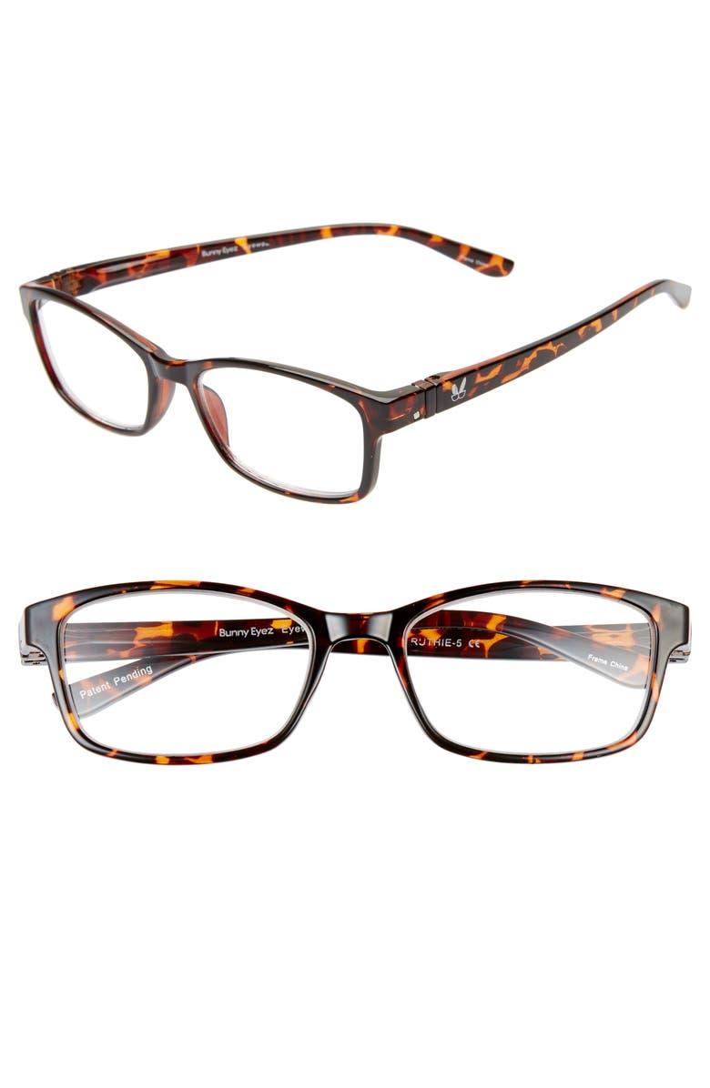 BUNNY EYEZ The Ruthie 53mm Reading Glasses, Main, color, TRUE TORTOISE