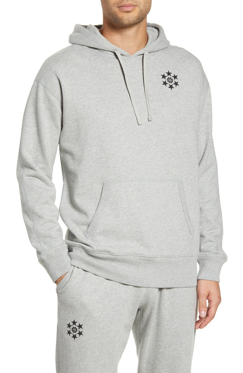 REIGNING CHAMP Relaxed Hooded Sweatshirt, Main, color, HEATHER GREY