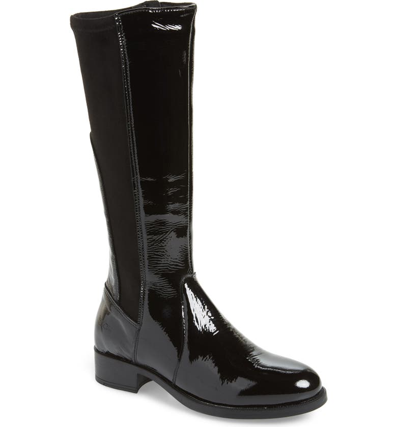 BOS. & CO. Brook Waterproof Knee High Boot, Main, color, BLACK PATENT LEATHER