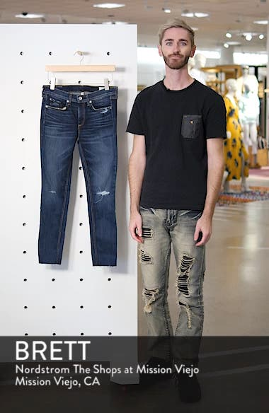 /JEAN Ripped Ankle Skinny Jeans, sales video thumbnail