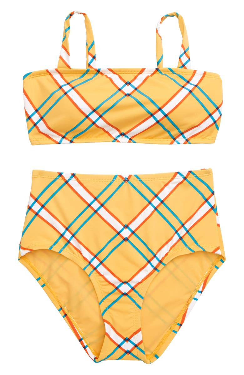 HOBIE Check Print Two-Piece Swimsuit, Main, color, 700