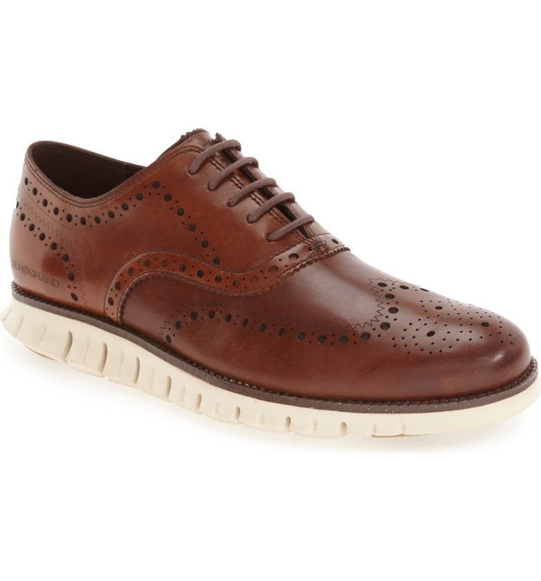 COLE HAAN ZeroGrand Wingtip Derby, Main, color, 235