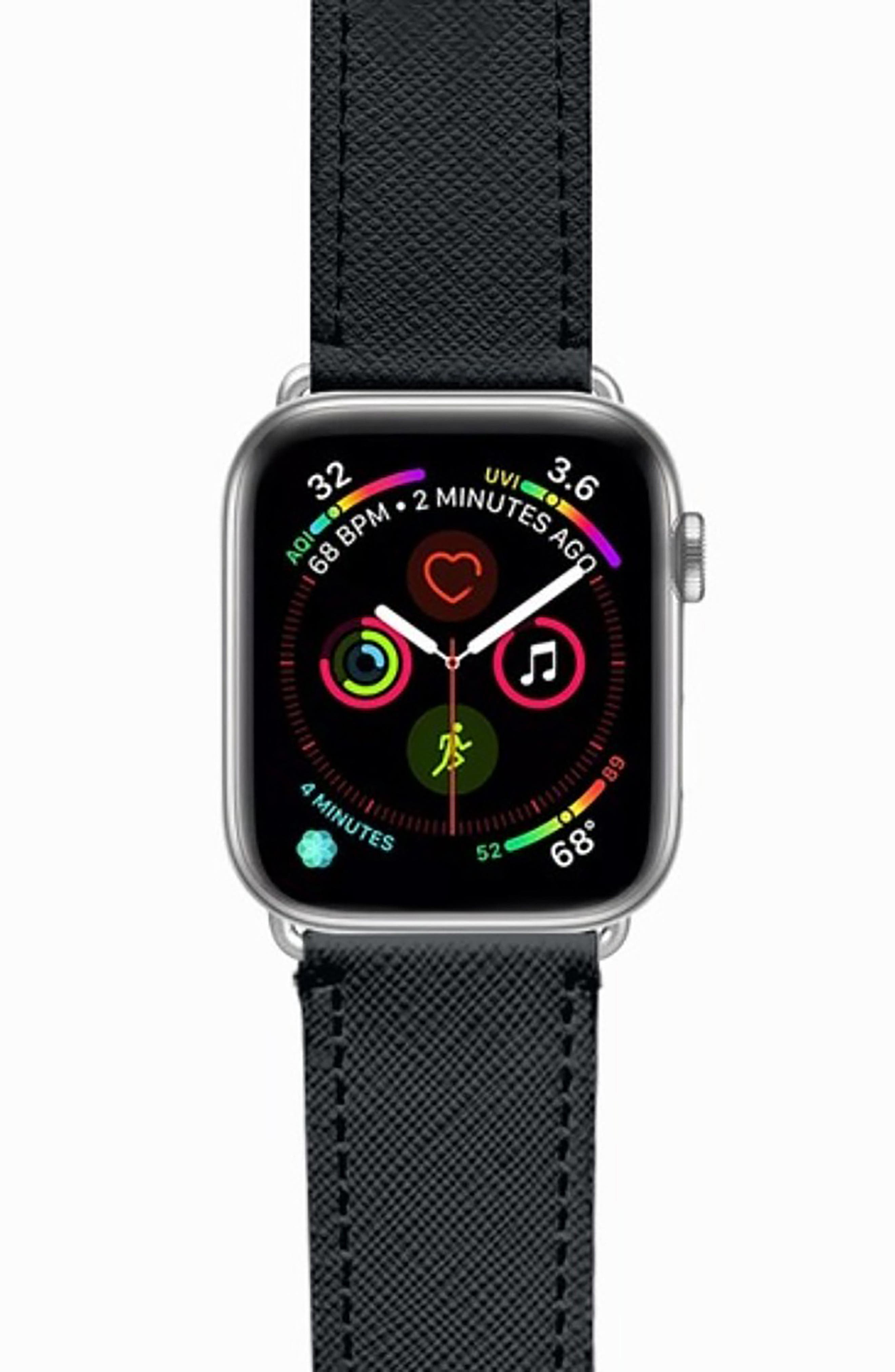 Essential Saffiano Faux Leather Apple Watch Strap