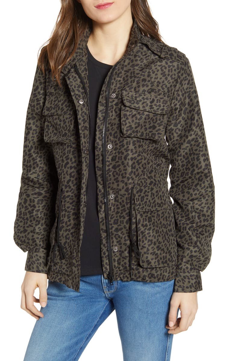 VIGOSS Leopard Print Cargo Jacket, Main, color, 300