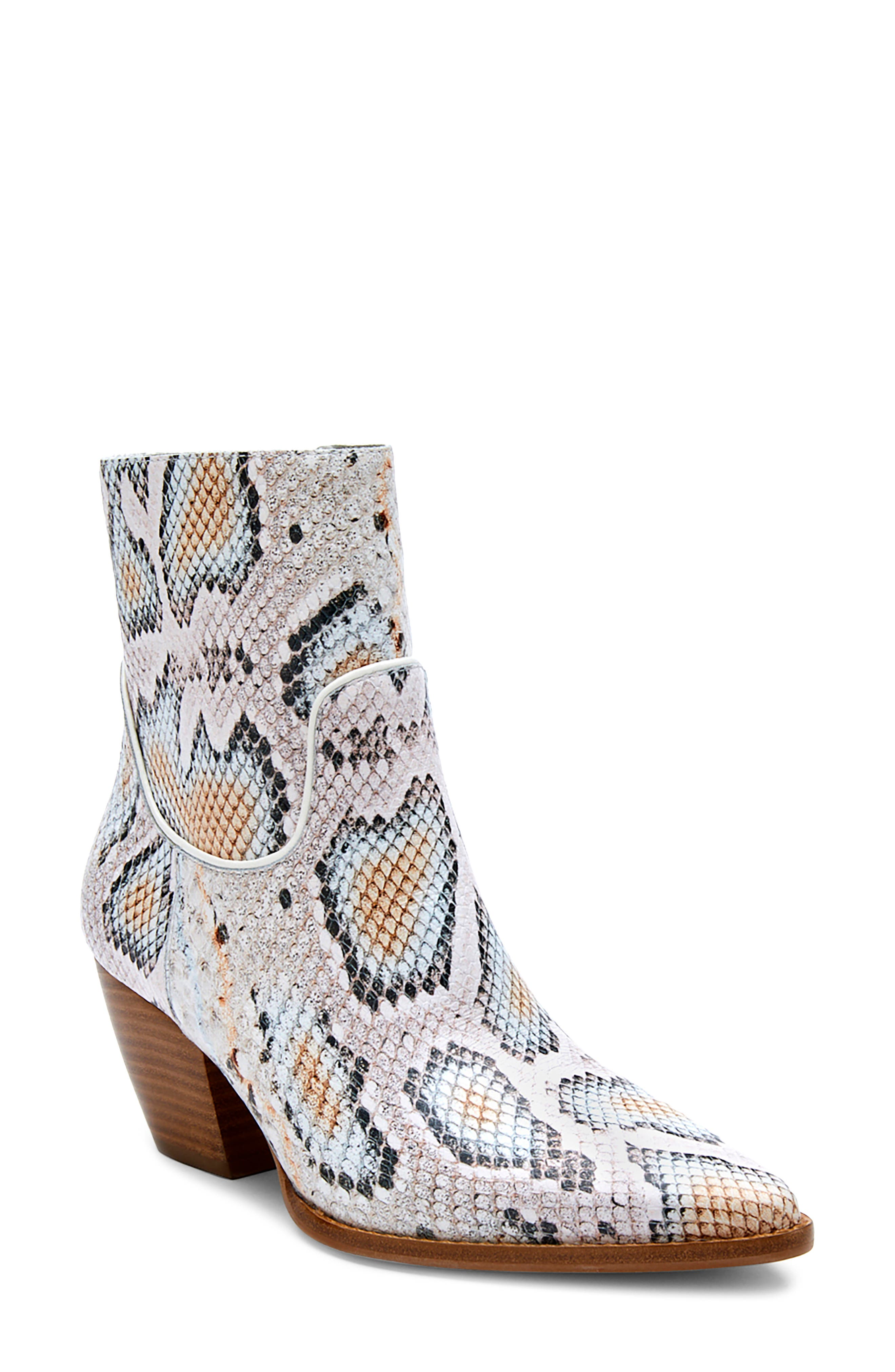 Amore Snake Embossed Bootie