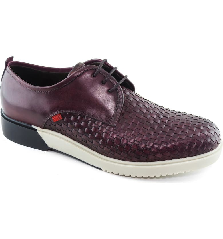 MARC JOSEPH NEW YORK Tribeca Woven Derby, Main, color, WINE LEATHER
