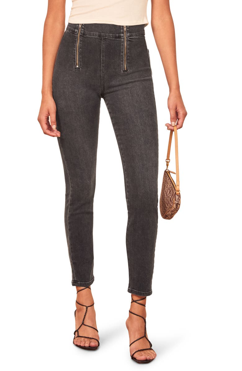 REFORMATION Krista High & Skinny Jeans, Main, color, 400