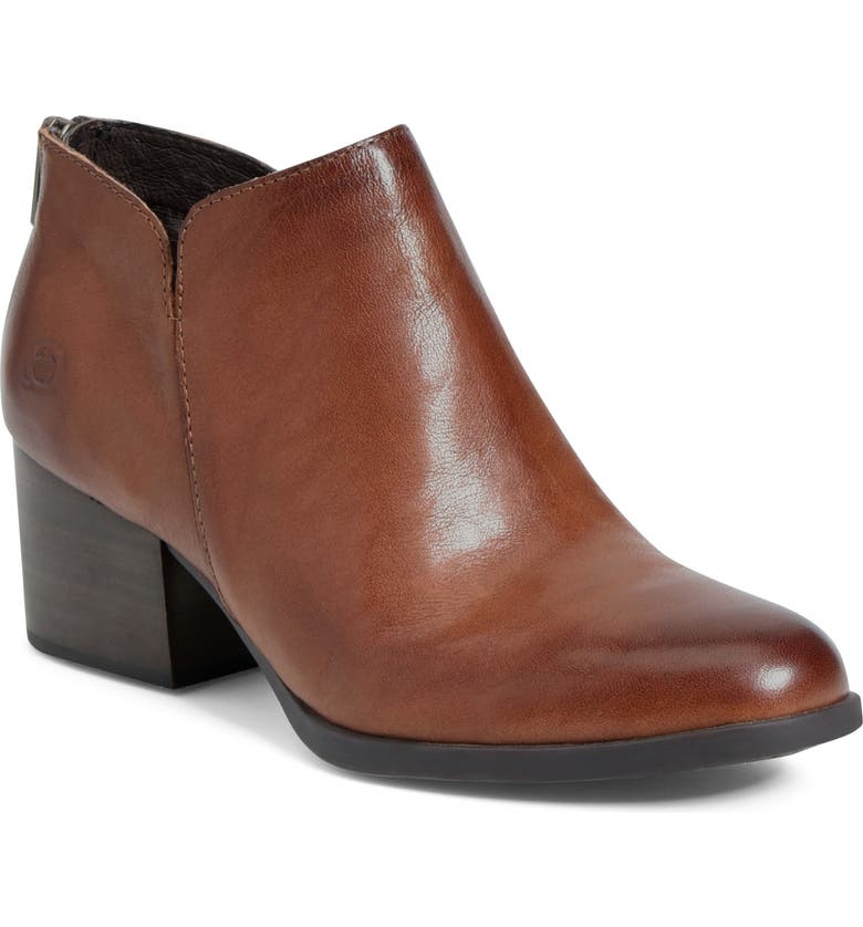 BØRN Aare Bootie, Main, color, BROWN LEATHER
