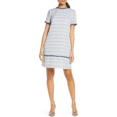 Julia Jordan Tweed Shift Dress, Blue