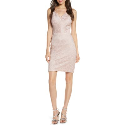 Morgan & Co. Lace Body-Con Dress, Pink