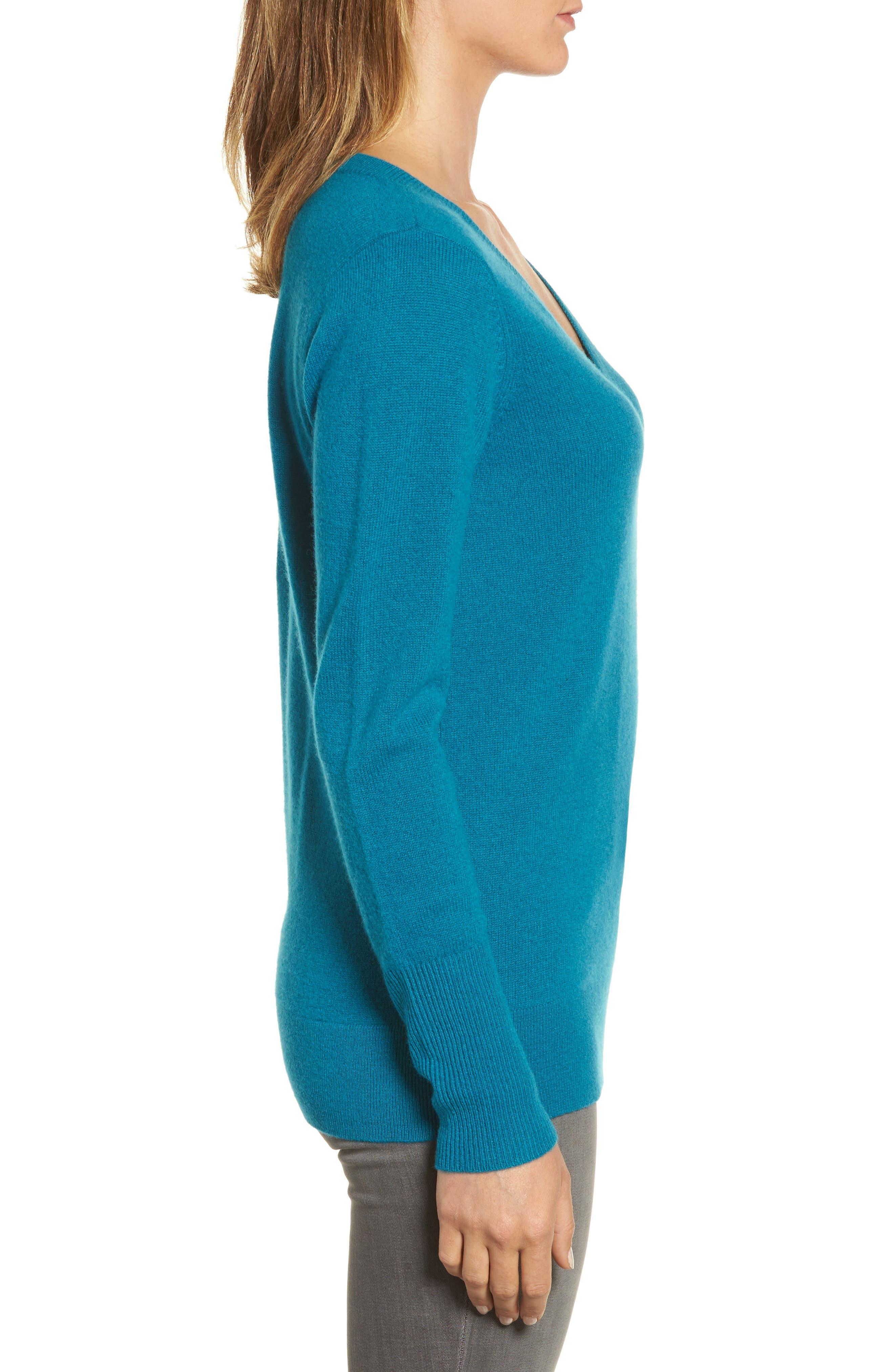 ,                             V-Neck Cashmere Sweater,                             Alternate thumbnail 43, color,                             449