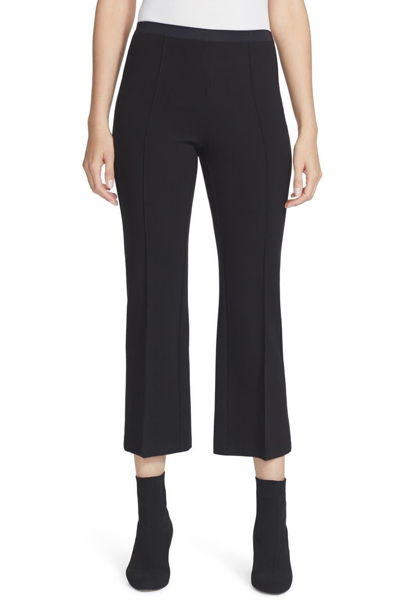 LAFAYETTE 148 NEW YORK Houston Pull-On Punto Milano Crop Pants, Main, color, BLACK