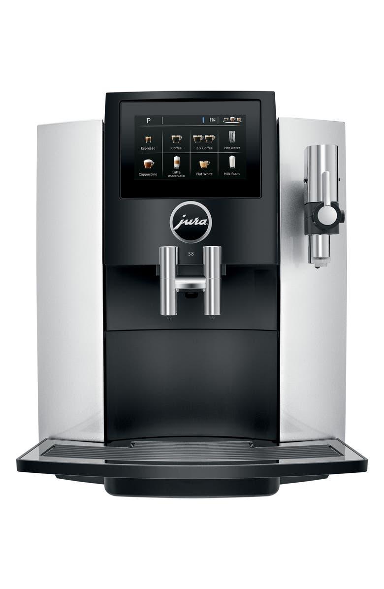 JURA S8 Automatic Coffee Machine, Main, color, MOONLIGHT SILVER