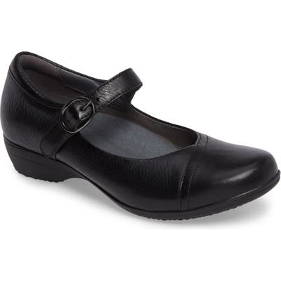 Dansko Fawna Mary Jane Flat-6- Black
