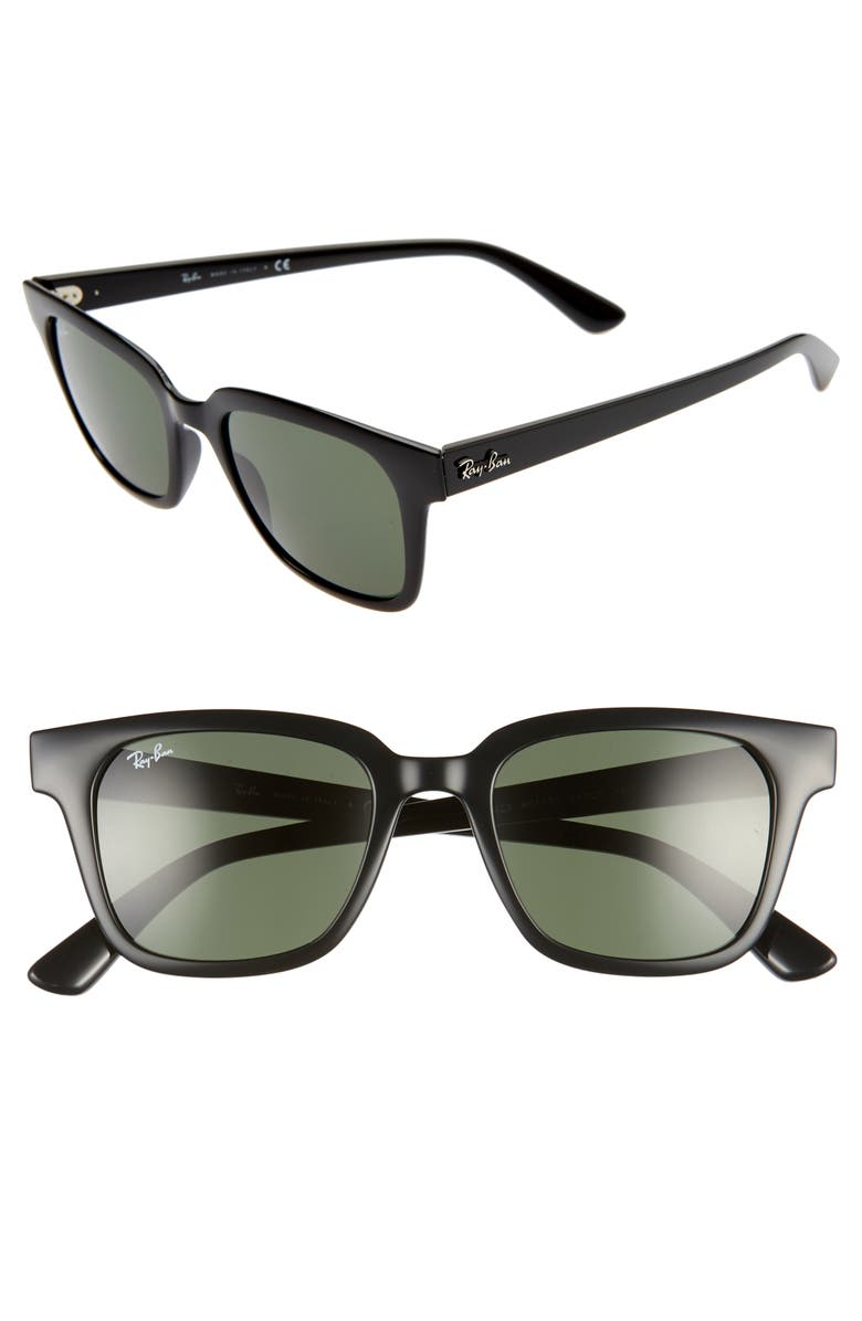RAY-BAN Wayfarer 51mm Sunglasses, Main, color, BLACK/ GREEN