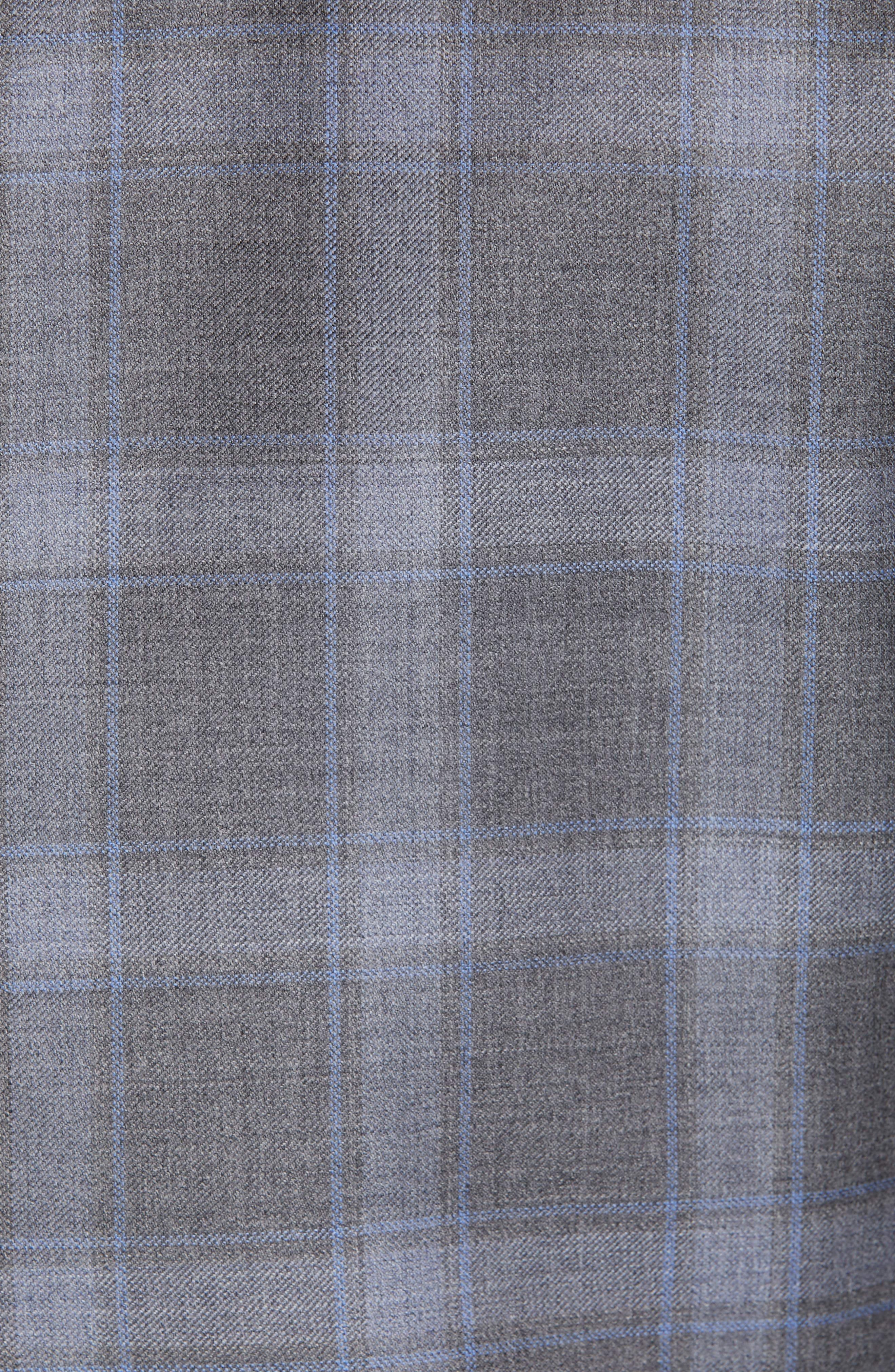 ,                             Sienna Classic Fit Plaid Wool Sport Coat,                             Alternate thumbnail 5, color,                             GREY