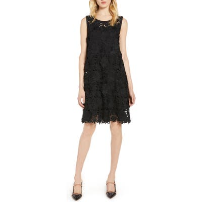 Halogen Lace Shift Dress, Black