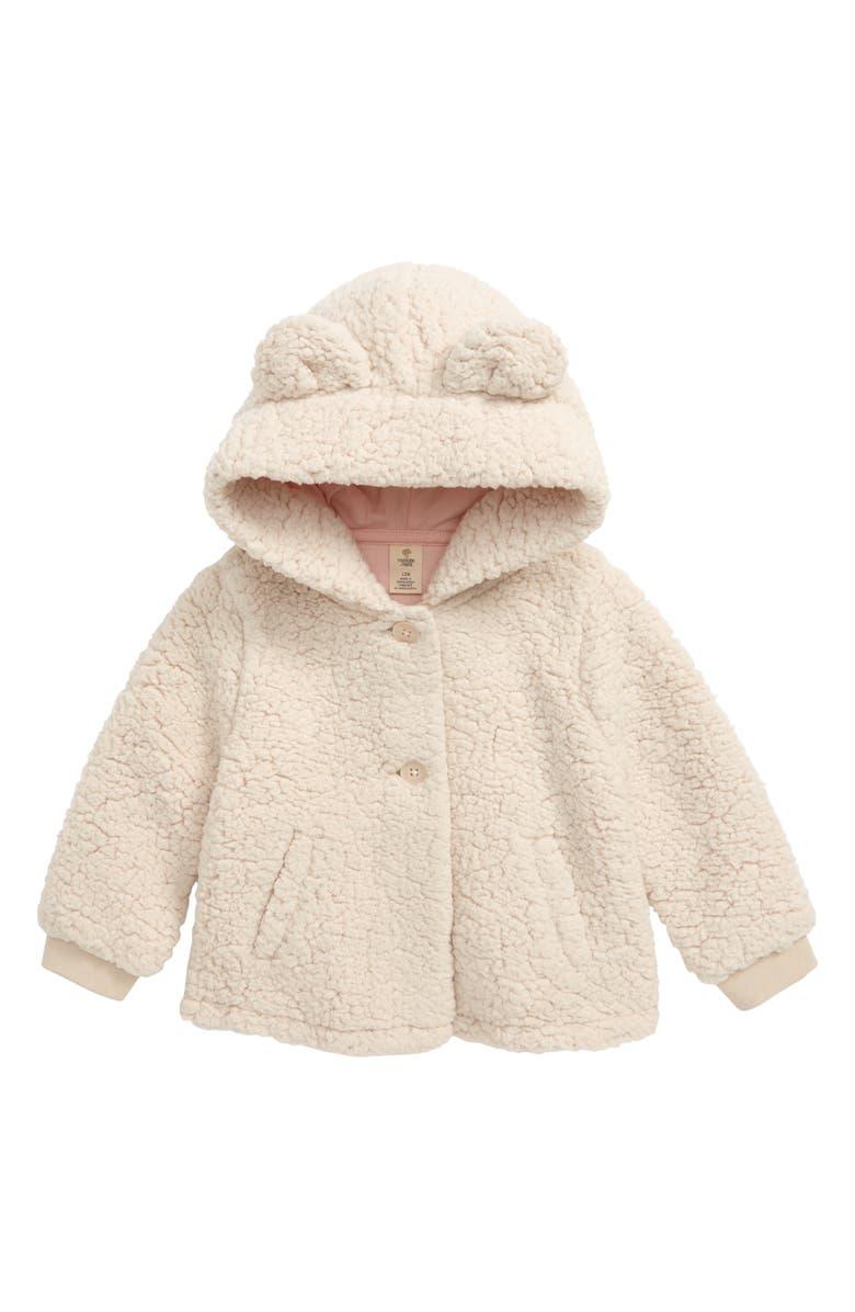 TUCKER + TATE Cozy Fleece Jacket, Main, color, IVORY EGRET