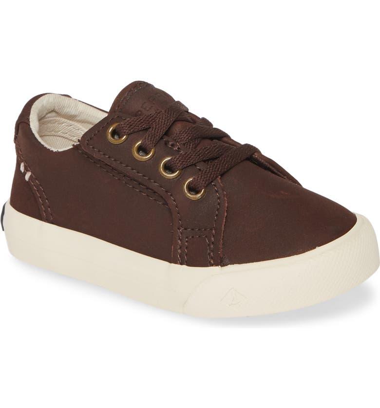 SPERRY KIDS Striper II LLT Sneaker, Main, color, BROWN LEATHER