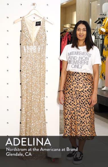 Sequin Column Gown, sales video thumbnail