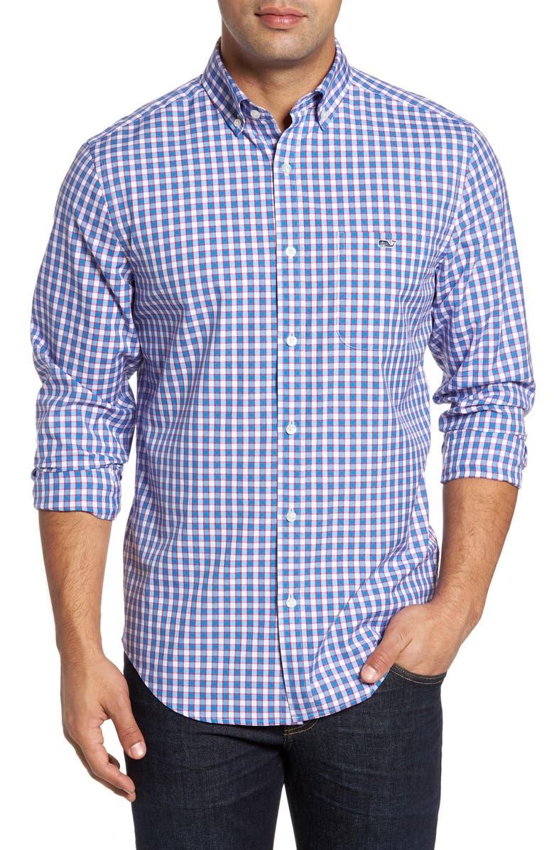 VINEYARD VINES Tucker Classic Fit Check Sport Shirt, Main, color, 400