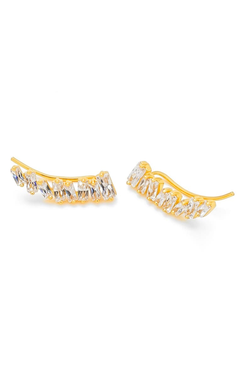 GORJANA Amara Cubic Zirconia Ear Crawlers, Main, color, GOLD