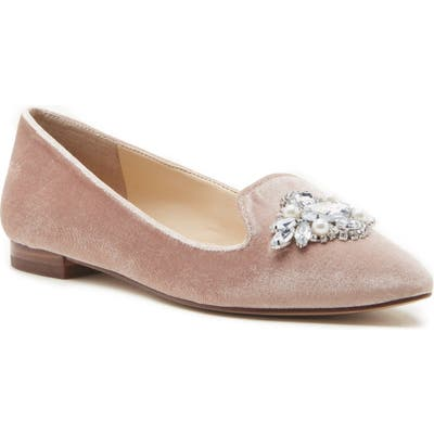 Sole Society Libry Crystal Embellished Flat- Grey