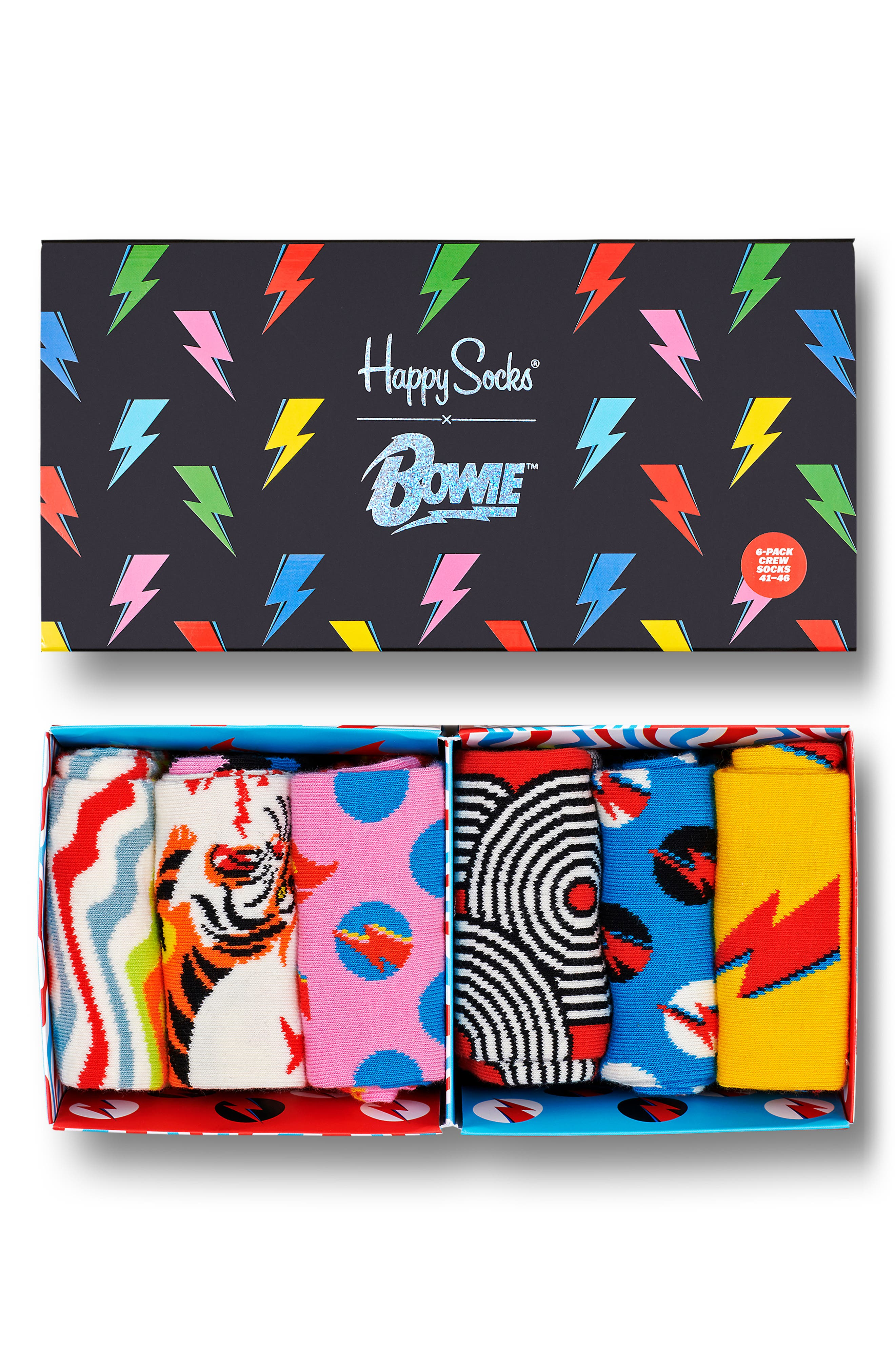 6-Pack David Bowie Socks
