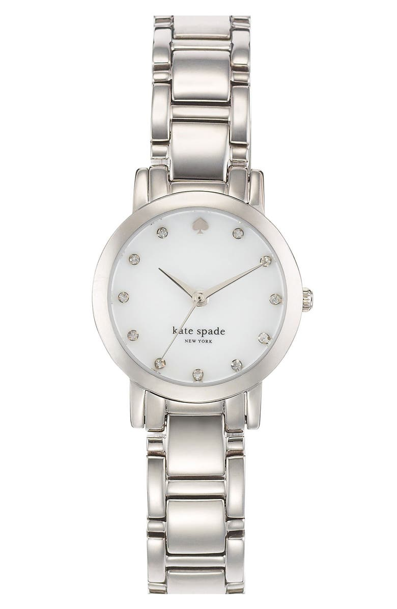 KATE SPADE NEW YORK 'gramercy mini' crystal index watch, 24mm, Main, color, 040