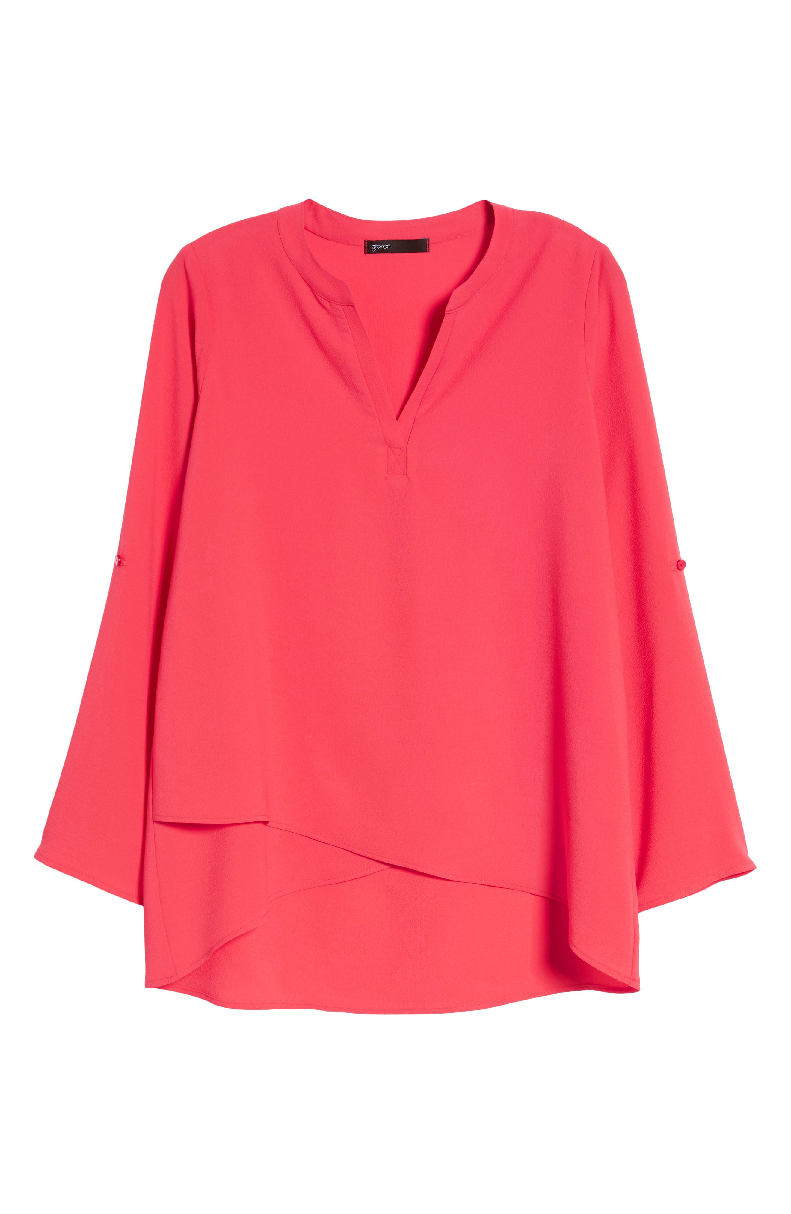 ,                             x International Women's Day Erin Cross Front Tunic Blouse,                             Alternate thumbnail 71, color,                             651