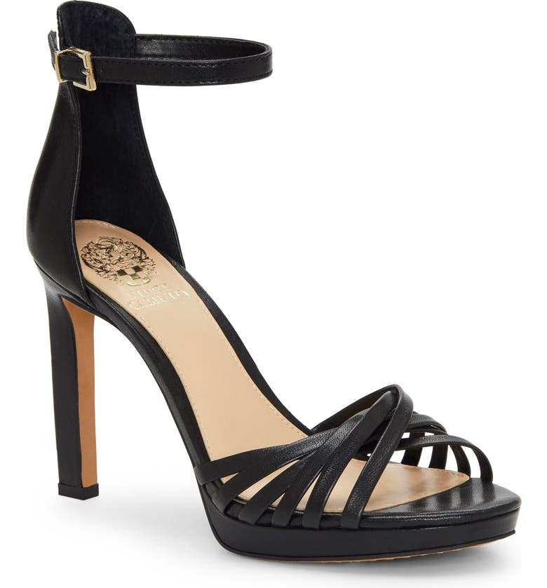 VINCE CAMUTO Beresta Sandal, Main, color, BLACK LEATHER