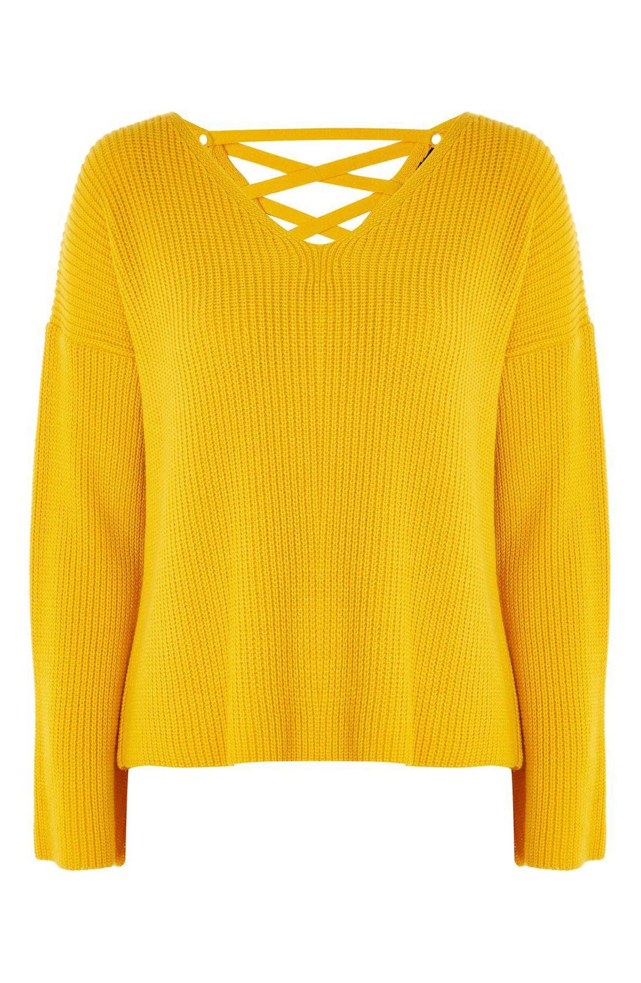 ,                             Lattice Back Sweater,                             Alternate thumbnail 3, color,                             700