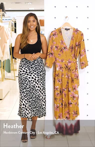 Floral Faux Wrap Dress, sales video thumbnail