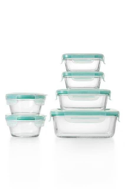Image of Oxo Good Grips Smart Seal 12-Piece Glass Storage Container Set