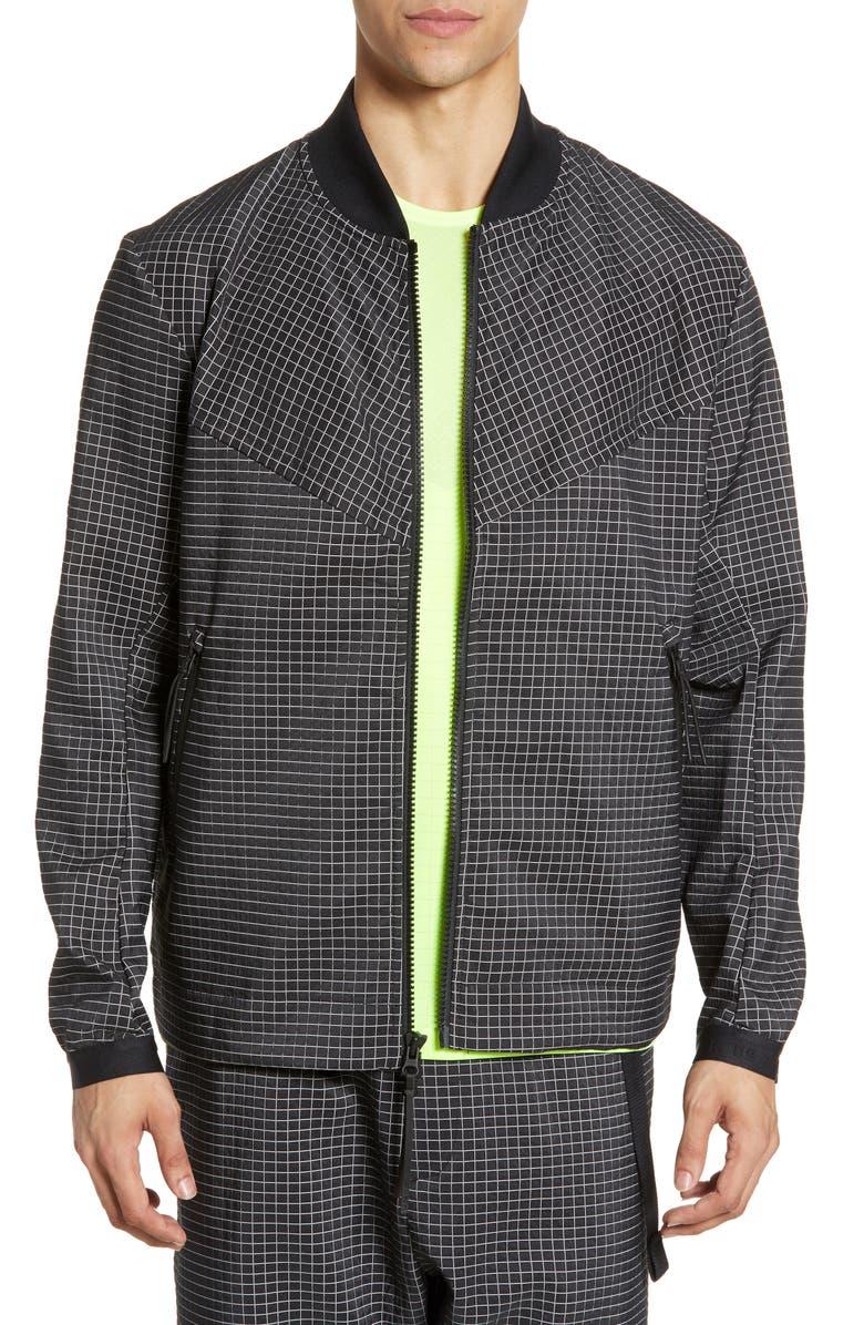 NIKE Sportswear Tech Pack Grid Jacket, Main, color, BLACK/ SUMMIT WHITE/ BLACK