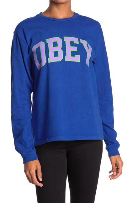 Image of Obey Academic Crew Neck Pullover
